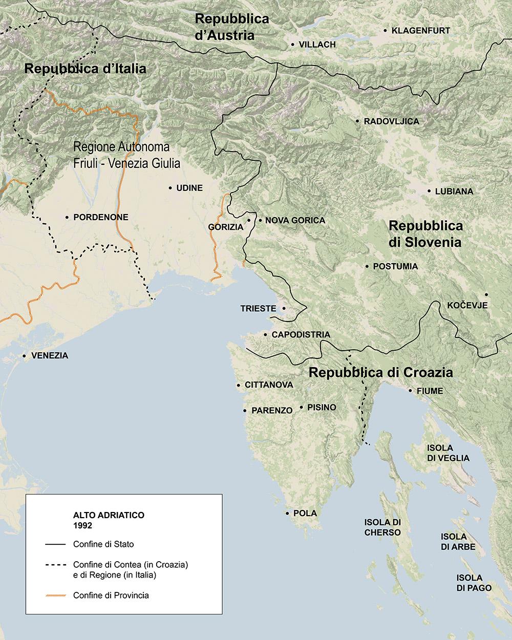 Cartina Della Slovenia E Croazia.Regione Storia Fvg